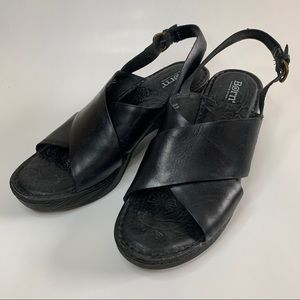 Born Leather Clog Sandals